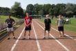 Die Endlaufteilnehmer im 75 m Lauf der Jungen