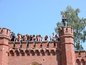 Bei der Besichtung der Festung Boyen in Gizycko