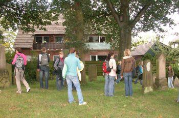 Auf dem Judenfriedhof in Schermbeck