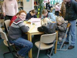 Großer Andrang in der Bibliothek