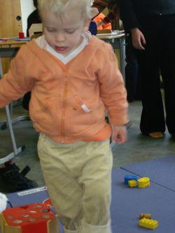 Die Kleinsten werden vom Pädagogik-Kurs betreut
